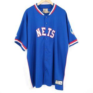 Vintage New Jersey Nets Warm Up Shooting Jersey XL